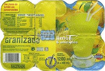HACENDADO HELADO GRANIZADO LIMON *VERANO* 1200 ml ( 6 x 200 ml )