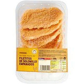 Eroski Solomillo de pollo empanados Bandeja 320 g