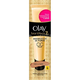 Olay Total Effects CC Cream 7 en 1 hidratante y minimizador de poros + toque de color SPF-15 dosificador 50 ml claro a medio Dosificador 50 ml