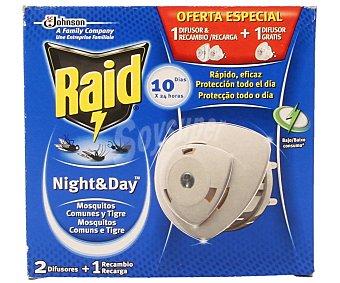 RAID Night&Day Antimosquito Apartato Eléctrico 1 Unidad + 1