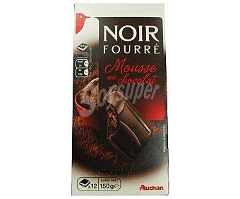 Auchan Chocolate negro relleno de mousse de chocolate 160 gr
