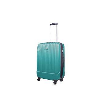 AIRPORT Maleta con 4 ruedas pivotantes, con estructura rígida de ABS de color verde agua, medida de 67 centímetros 67cm