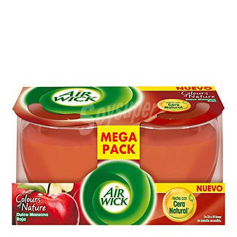 Air Wick Cera perfumada de manzana roja 2 ud