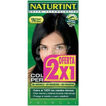 N.1 NATURTINT Tinte negro ébano Pack 2x1 unid