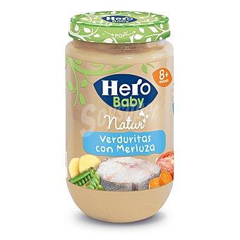 Hero Baby Tarrito de verduritas con merluza desde 8 meses Natur Envase 235 g