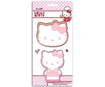 Hello Kitty Set de 2 cortadores de galletas metálicos con formas de Hello Kitty, modelo Kitty Baking 2 unidades