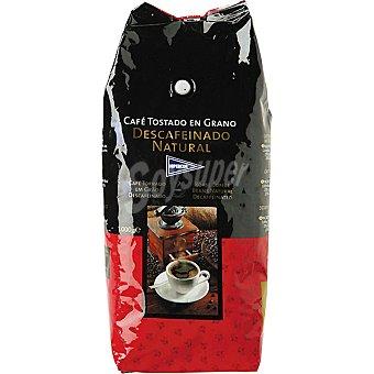 EL CORTE INGLES Café descafeinado en grano Paquete de 1 kg