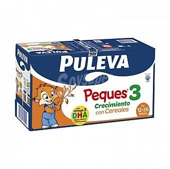 Puleva Peques Leche infantil de crecimiento desde 12 meses con cereales Pack de 8 briks de 1 l