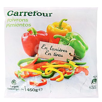 Carrefour Pimiento en tiras 450 g