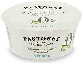 Pastoret Yogur natural desnatado Envase 125 g