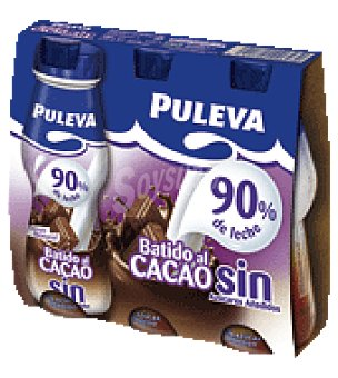 Puleva Batido al cacao light Pack de 3 botellas, de 175 ml