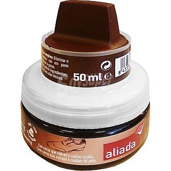 Aliada Limpia calzado crema autobrillante marrón con esponja Tarro 50 ml