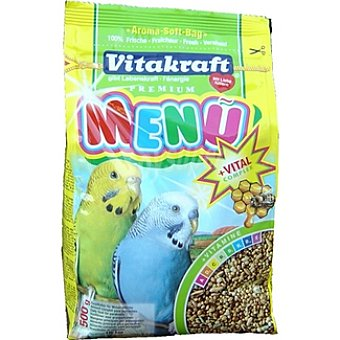 VITAKRAFT MENU Alimento completo para periquitos paquete 500 g Paquete 500 g