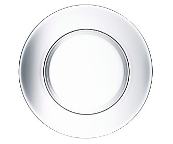 ARC Plato llano de 25 centímetros de diámetro fabricado en vidrio opal transparente, serie Ambiante 1 unidad