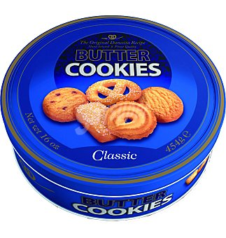 Butter Cookies Galletas danesa Lata 454 grs