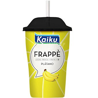 Kaiku Frappè bebida de leche fresca y plátano vaso 230 ml Vaso 230 ml