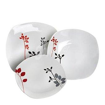 Conjunto Vajilla Mod. HANA 18 piezas en porcelana decorada  1 ud