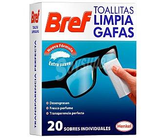 Bref WC Toallitas limpiagafas, con nueva formula con extra suavidad 10 unidades