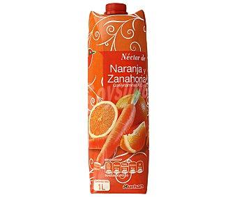 Auchan Néctar de naranja y zanahoria Brik de 1 litro