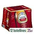Cerveza rubia nacional 100% malta Pack 12 botellines x 25 cl Amstel