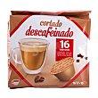 Cafe capsula cortado descafeinado (compatible) Paquete 16 u Cocatech