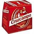 Cerveza rubia 6 botellines de 25cl Cruzcampo