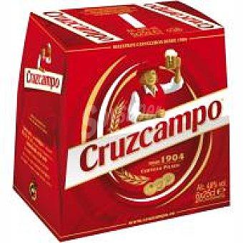 Cruzcampo Cerveza rubia 6 botellines de 25cl
