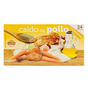 Zamek Caldo deshidratado pastillas pollo Caja 24 pastillas