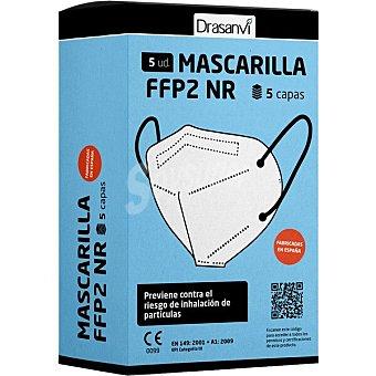 Drasanvi Mascarillas FFP2 NR 5 capas caja 5 unidades Caja 5 unidades