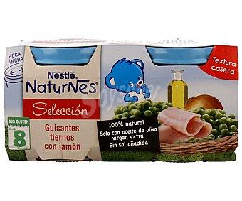 Nestlé Naturnes de guisantes con jamón Pack 2x200 g