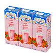 Batido de fresa Pack 3 envases 200 ml Celgán