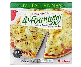 Auchan Pizza de masa fina a los 4 quesos 340 g