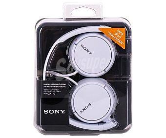 Sony Auricular cerrado con cable, color blanco MDRZX110W.AE