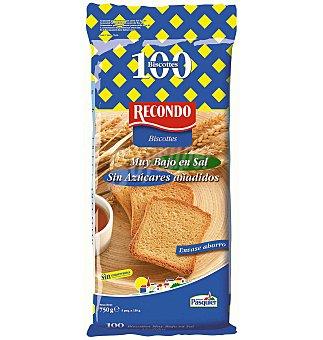 Recondo PAN biscote s/sal s/azucar 750 g (100 ud)