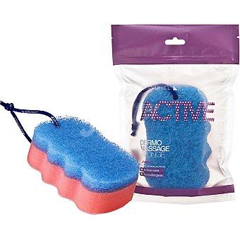 Suavipiel Esponja de baño Active Dermo Masaje accion exfoliante bolsa 1 unidad Bolsa 1 unidad