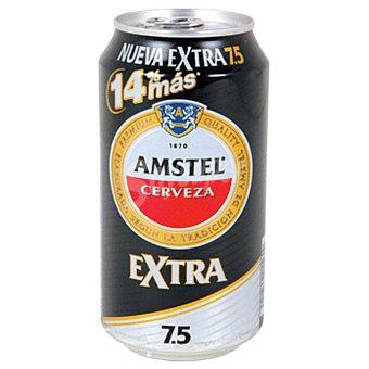 Amstel Cerveza Extra 7,5 (14% más) Lata 33 cl