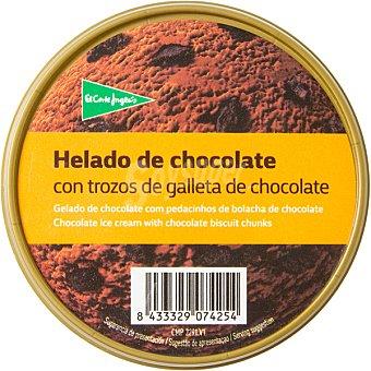 El Corte Inglés helado de chocolate con trozos de galleta de chocolate tarrina 500 ml