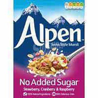 Alpen Muesli sin azúcar strawberry-cranbrerry-raspb. caja 560 g