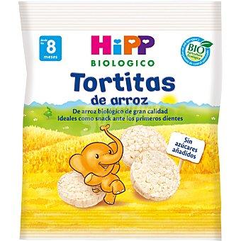 HIPP BIOLOGICO Tortitas de arroz biológico ideal como snack para los primeros dientes  bolsa 30 g