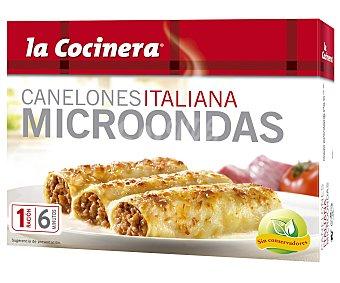 La Cocinera Canelones para microondas, receta italiana 300 g