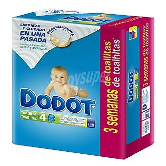 Dodot toallitas infantiles pack 4 envases 72 unidades