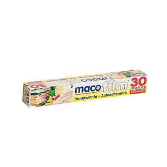 Macopack Film transparente autoadherente rollo 30 M
