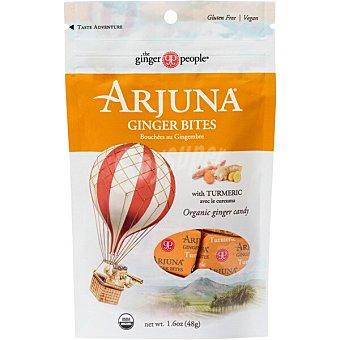 THE GINGER PEOPLE Caramelos de jengibre con cúrcuma Bolsa 48 g
