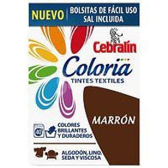 Cebralín Tinte marrón con sal incluida Coloria Pack 1 dosis