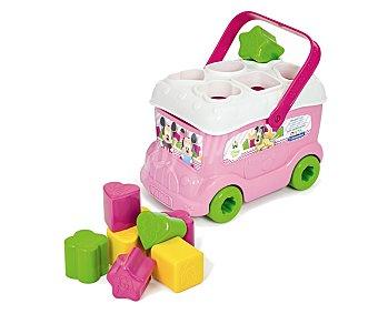 Clementoni baby Autobus de minnie con 9 encajables de formas y colores 1 unidad