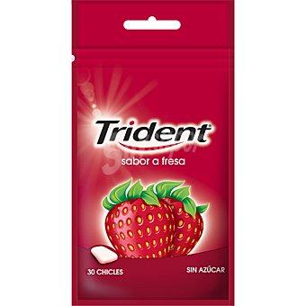 Trident Chicles trident fresa bolsa 30 grageas 1 ud