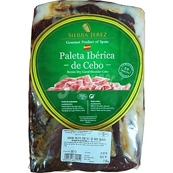 Sierra jerez Paleta deshuesada de cebo ibérica 50% raza ibérica 100 gramos