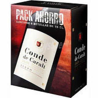 Conde de Caralt Vino Tinto Joven pack 6x75 cl