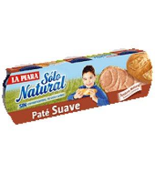 La Piara Sólo Natural Paté suave  Pack de 3ud