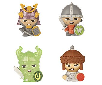 World of warriors Set con 4 mini figuras world OF warrior 1unidad. Este producto dispone de distintos modelos o colores. Se venden por separado, SE surtirán según existencias 4u